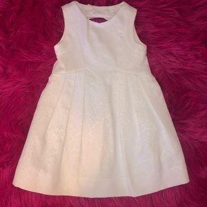 Girls white formal dress.